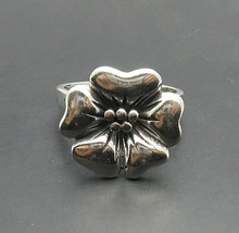 R000811 Stylish Sterling Silver Ring Solid 925 Flower - $13.20
