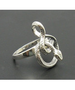 R000683 Sterling Silver Ring Solid 925 Snake - $15.30