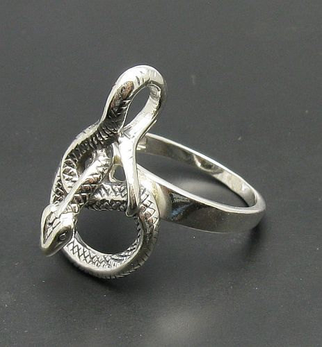 R000683 Sterling Silver Ring Solid 925 Snake