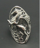 R000504 STERLING SILVER Ring Solid 925 Pegasus - $21.60