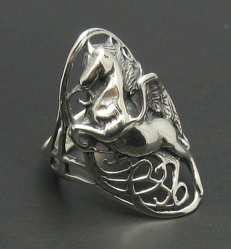 R000504 STERLING SILVER Ring Solid 925 Pegasus