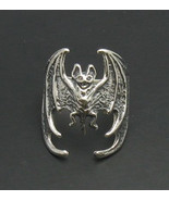 R000492 Stylish STERLING SILVER Ring Solid 925 Bat Vampire Biker - $30.90