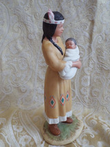 Homco porcelain Indian mother with child #1447 - nicely painted - $15.99