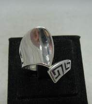 R001171 Sterling Silver Ring Solid 925 Meander - $350,26 MXN