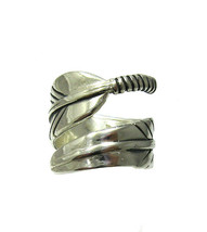 R001358 STERLING SILVER Ring Solid 925 Feather - $558,75 MXN