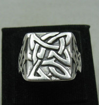 R001102 STERLING SILVER Men's Ring Solid 925 Celtic style - $645,15 MXN