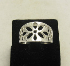 R000897 Stylish STERLING SILVER Ring Solid 925 Flower - $241,93 MXN