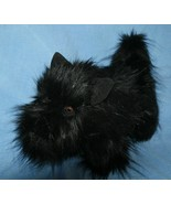 "Scottish Terrier Black Scottie Dog 15"" Realistic Plush Handmade Stuffed ... - $58.04"