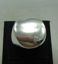 R001198 Stylish Plain STERLING SILVER Ring Solid 925 Perfect Polished - $32.10