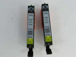 2 Empty Printer ink cartridges  Canon PIXMA 271 Yellow 27745 - $9.89