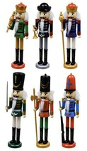 """SET of 6 New Hard Plastic Christmas Nutcrackers, 9"""", SOLDIERS, ARMY - $24.74"""
