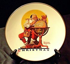 Planning Christmas by Norman Rockwell Plate with Box( Gorham ) AA20-CP2178 image 10