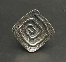R000769 STERLING SILVER Ring Solid 925 Spiral Adjustable size - $579,74 MXN