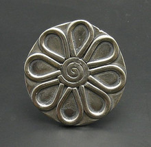 R000764 STERLING SILVER Ring Solid 925 Huge Flower Adjustable size - $887,73 MXN