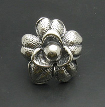 R000767 STERLING SILVER Ring Solid 925 Huge Flower Adjustable size - $718,64 MXN