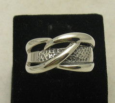 R000908 Stylish Sterling Silver Ring Solid 925 - $18.00