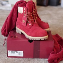 """Timberland Mens Valentine Naughty Nice Limited Release 6"""" Inch Premium Red Boots - $219.99"""