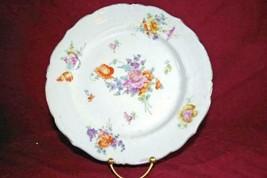"Merkelsgrun Austria Multi Floral Dinner Plate 9 1/2"" - $5.54"