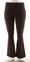 Women with Control Tummy Control Low Bell Knit Pants Chocolate XS NEW A2... - $23.74