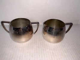 Vintage Empire Crafts Quadruple Silver Plate Creamer and Sugar - $15.00