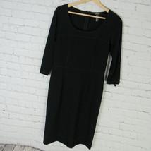 DKNY Dress Womens Size 6 Black Wool Blend Donna Karan New York - $19.46