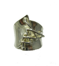 R001312 Stylish STERLING SILVER Ring Solid 925 - $440,84 MXN