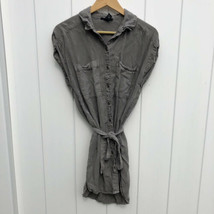 Forever 21 Shirt Dress Button Down Tunic Tie Waist Collared Medium - $15.83