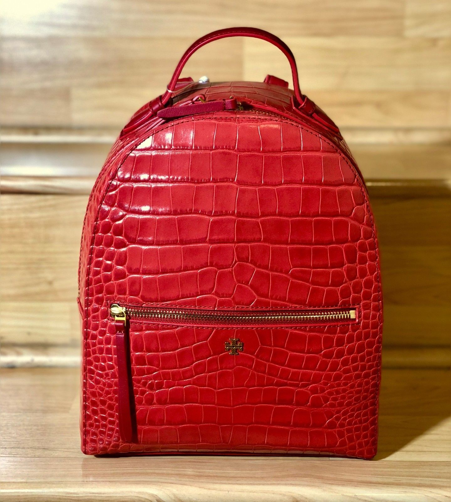 730689bcd88 NWT 100% Authentic Tory Burch Croc-Embossed and 50 similar items