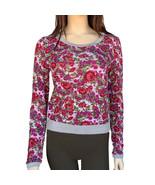 Self Esteem Floral Print Sweatshirt Size S Raspberry Multi New Msrp $34 - $9.99