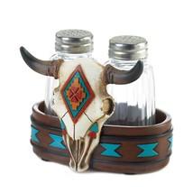 Southwestern Themed Bison Skull Salt & Pepper Shaker Set - $19.95