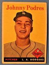 1959 Topps #495 Johnny Podres Los Angeles Dodgers Baseball Card - $4.95