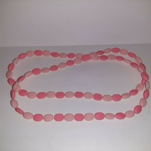 """Vintage Pop Snap Beads Necklace Light and Dark PINK 25"""" Long - 50"""" Total - $11.88"""