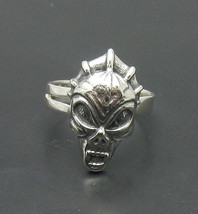 R000845 Sterling Silver Ring Solid 925 Devil Skull Adjustable Size - $15.90