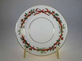 Royal Worcester Holly Ribbons Tea Saucer NEW (MADE IN INDIA) - $7.53