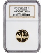 1995-W Olympic Torch $5 NGC PR 70 UCAM - Modern Commemorative Gold - $708.10
