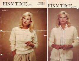 Finn Time by Eila Vol 5 Style No 10-11 Misses Open & Slip Over Sweaters ... - $5.83