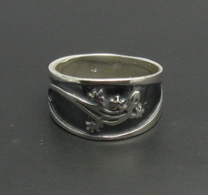 R000315 Stylish STERLING SILVER Ring Solid 925 Gecko Biker Band - $434,80 MXN