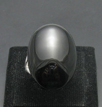 R000319 STERLING SILVER Ring Solid 925 Natural Black Onyx  Adjustable size - $462,99 MXN