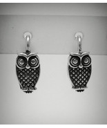 E000469 Sterling silver earings solid 925 Owl - $6.90