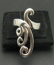 R000959 Stylish Long STERLING SILVER Ring Solid 925 - $276,49 MXN