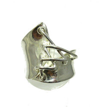 R001319 Stylish STERLING SILVER Ring Solid 925 - $350,26 MXN