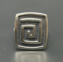 R000376 Sterling Silver Ring Solid 925 Quadrat Spiral Adjustable Size - $446,88 MXN