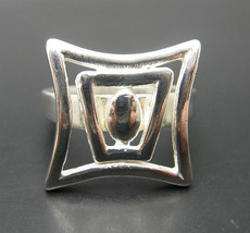 R000386 Sterling Silver  Ring Solid 925 Geomtric - $10.80