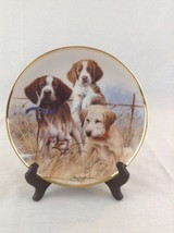 Franklin Mint Sporting Trio Dogs Puppies Hound Setter Labrador Retriever... - $14.01