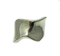 R001349 STERLING SILVER Ring Solid 925 Plain - $19.20