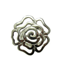 R001344 STERLING SILVER Ring Solid 925 Flower Adjustable size - $472,34 MXN