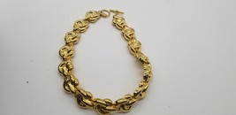 Vintage Anne Klein Gold Tone Rope Like Heavyweight Chain Necklace With Tag - $38.72