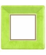 "Avocado Green Border Solid Color Garden Party 10"" Square Paper Banquet P... - $13.69"