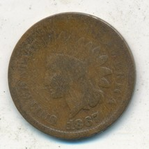1867 INDIAN HEAD CENT-SEMI KEY DATE! NICE CIRCULATED INDIAN CENT-FREE S/... - $42.95