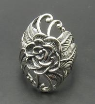 R000622 STERLING SILVER Ring Solid 925  HugeFlower - $506,90 MXN